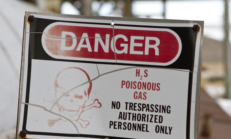 H2S Poison Gas Sign